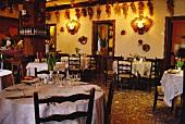 Interior of a rustic restaurant (Veneto, Italy)