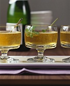 Apple and ginger drink with champagne
