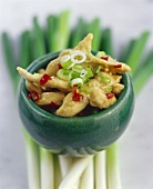 Lemon chicken with spring onions (S. China)