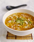 Sweetcorn soup with crabmeat (China)