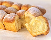Sweet rolls (Buchteln) with icing sugar