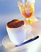 Grand Marnier ice cream soufflé in a cup