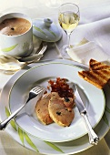 Goose liver terrine with truffles, with toast & white wine