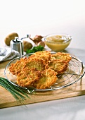 Potato rosti with chives and apple puree