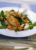 Guinea-fowl breast with pickled vegetables