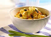 Krautfleckerl (pasta with cabbage) with pumpkin seeds