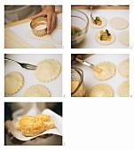 Making savoury puff pastries