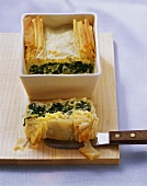 Spinach pie with sheep's cheese (Ispanakli börek, Turkey)