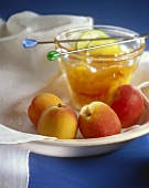 Apricot jam with ginger