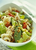 Cuttlefish salad with chili pepper