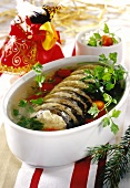 Carp in jelly for Christmas