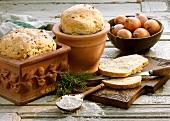 Spice bread, baked in a flowerpot