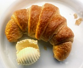 Croissant with butter curl