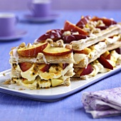 Puff pastry with nectarines and quark cream