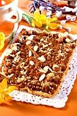 Mazurek with hazelnuts (Easter cake from Poland)