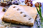 Mazurek with walnuts (Easter cake from Poland)