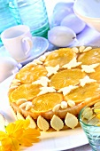 Mazurek with oranges (Easter cake from Poland)