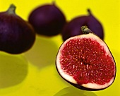 Red figs on yellow background