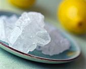 Sugar crystals and lemons