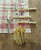Various asparagus peelers