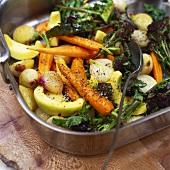 Salad of roasted summer vegetables