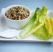 Mince salad with glass noodles