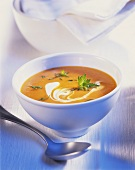 Creamed carrot soup with sour cream
