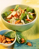 Almond couscous with chicken fillet