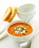 Creamed red pepper soup