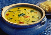 Methiche varan (lentil soup with chili and turmeric, India)