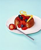 Mini-savarin with berries