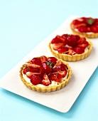 Strawberry and mascarpone tarts