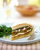 Muffalata sandwich with olives