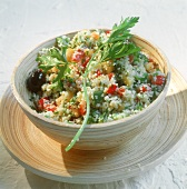 Tabbouleh (couscous salad with mint, N. Africa)