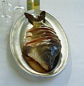 Carp slices stuffed with horseradish