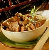 Fried kidneys with tarragon