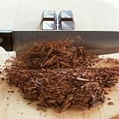 Making chocolate curls