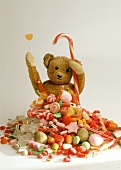 Teddy bear with sweets