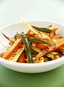 Roasted vegetables with poppy seed and honey sauce