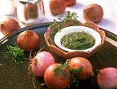 Piyaz ki chutney (onion chutney) Maharashtra, India