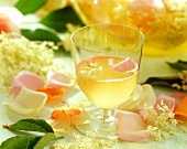 Elderflower and rose drink