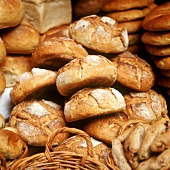 Assorted bread at market