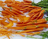 Fresh carrots, washed, peeled and cut up
