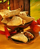 Samosas (pasties) with mince filling, India