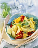 Fennel and pumpkin curry with peppers