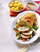Turkey roast with soft cheese stuffing