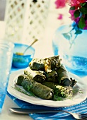 Dolmades (stuffed vine leaves, Greek)