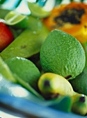 Exotic fresh fruit from the Caribbean (close-up)