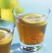 Ginger Refresher: herb tea with crystallised ginger