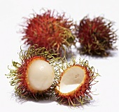 Rambutan, cut open